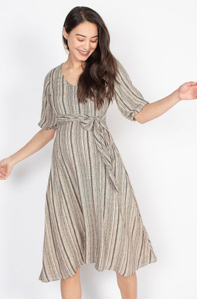 Velma Tribal Print Midi Nursing Dress