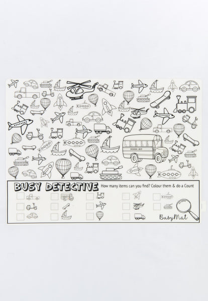 Busy Mat Large Placemat - Busy Detective Transport