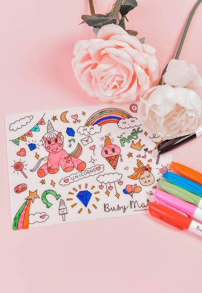Busy Mat Travel Placemat - Unicorn Magic