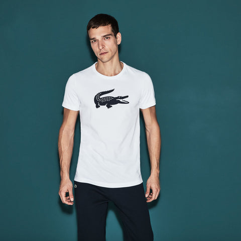 Lacoste-WHITE TECHNICAL TENNIS JERSEY-TH3377-00-T Shirts