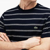 Lacoste-STRIPED CREW NECK-th3348 00 mgc-1-T Shirts