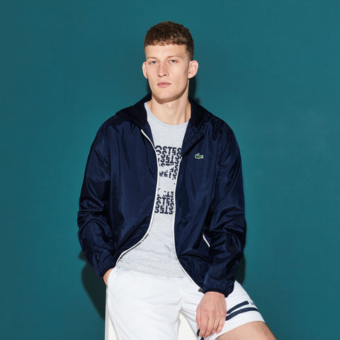 Lacoste-Zippered Tennis Jacket--Jackets