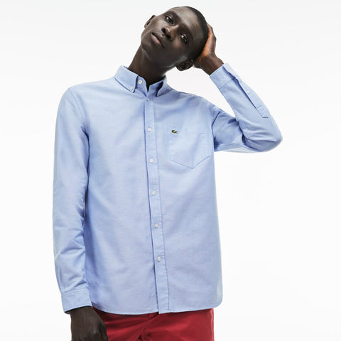 Lacoste-Cotton Oxford Shirt--Shirts