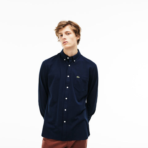 Lacoste-Slim Fit Cotton Shirt--Shirts