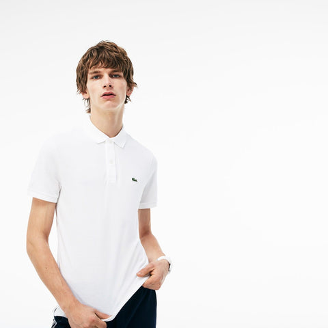 WHITE SLIM FIT PIQUÉ - Lacoste - All In Store