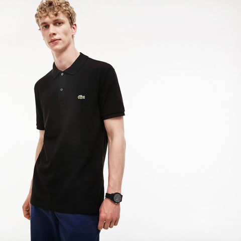 BLACK SLIM FIT PIQUÉ - Lacoste - All In Store