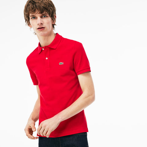 RED SLIM FIT PIQUÉ - Lacoste - All In Store