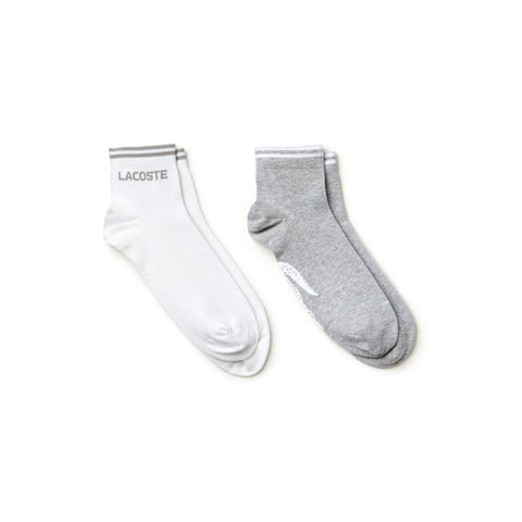Tennis low-cut socks in jacquard jersey - Lacoste - All In Store