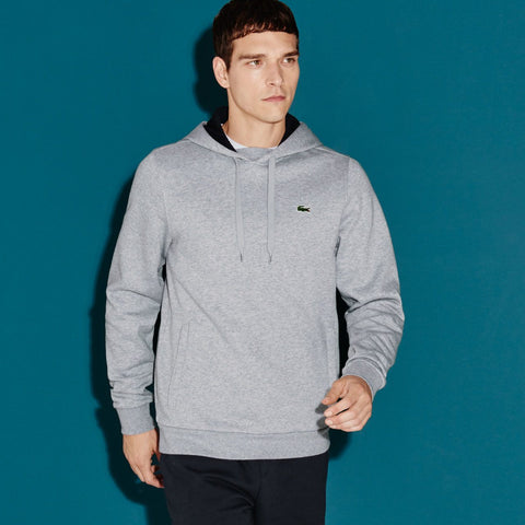 Lacoste-Hooded Fleece Sweatshirt--Hoodies