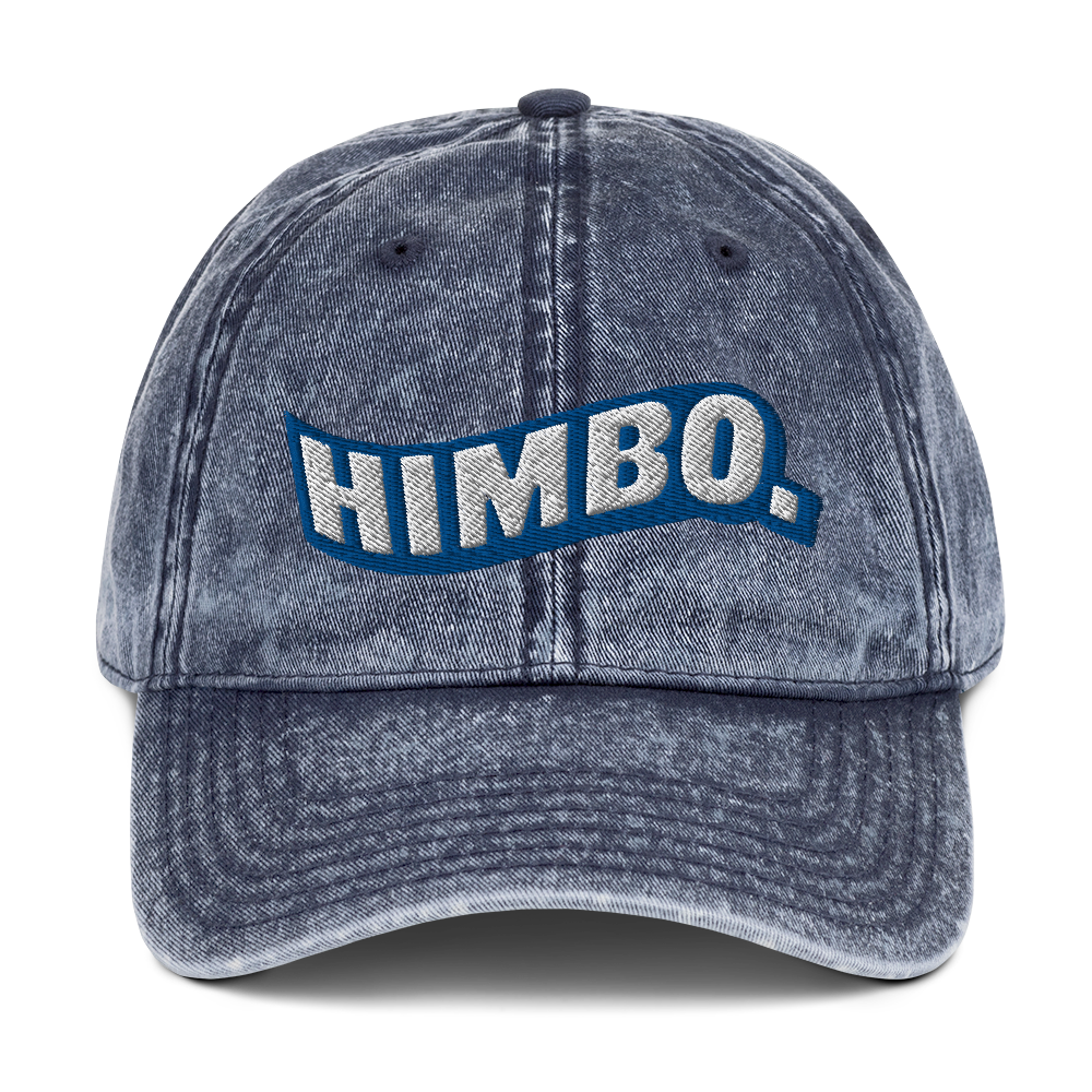 the blue himbo hat.