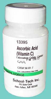 Ascorbic acid (vitamin c), lab grade, crystal