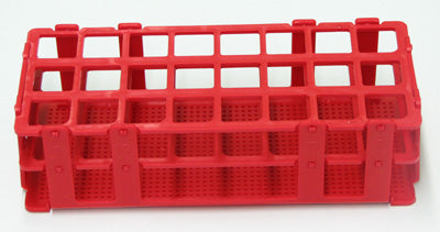 Stackable Test Tube Rack - Red