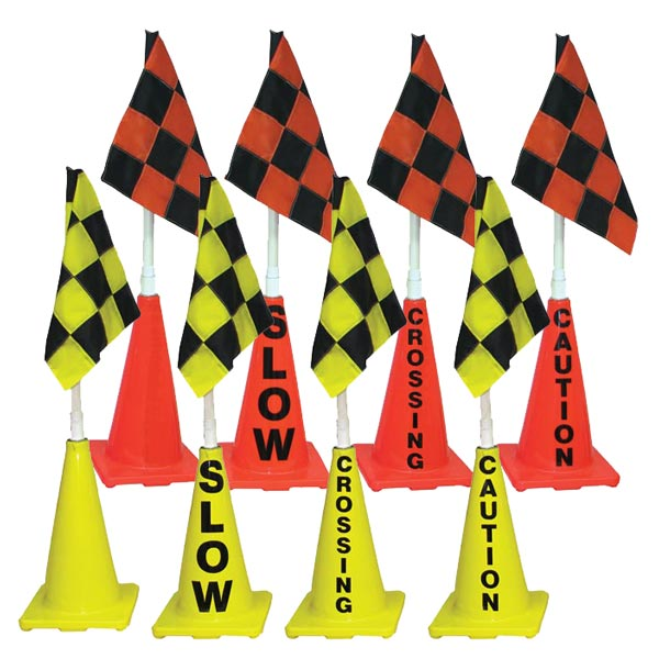 "41"" Deluxe Checkered Flag Cones"