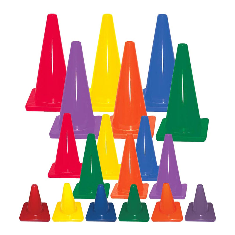 Colored Traffic Cones - Set of 6