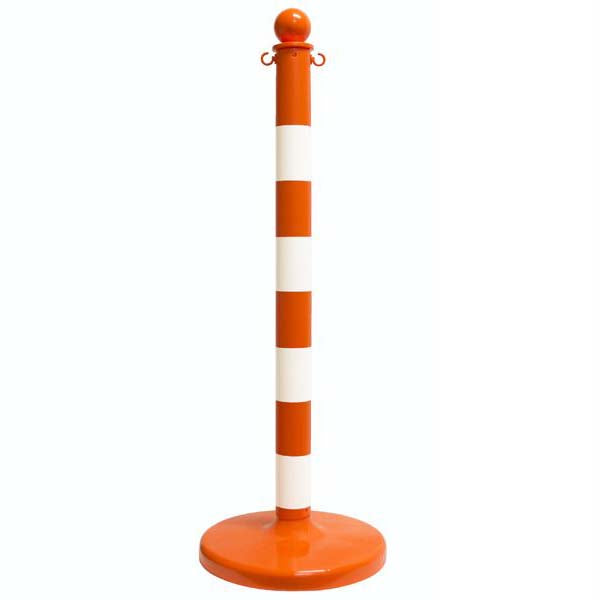 "2.5"" x 40"" Fluorescent Orange Striped Stanchion"