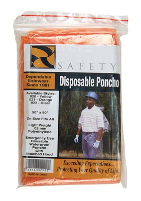 Disposable Ponchos