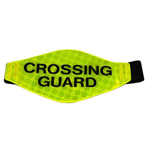 Prismatic Reflective Armband (Yellow w/ Crossing Guard)