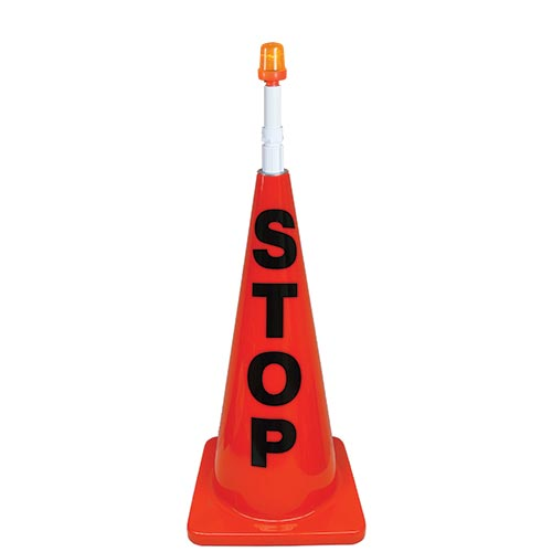 "28"" Orange Message Cone w/ Orange Light"
