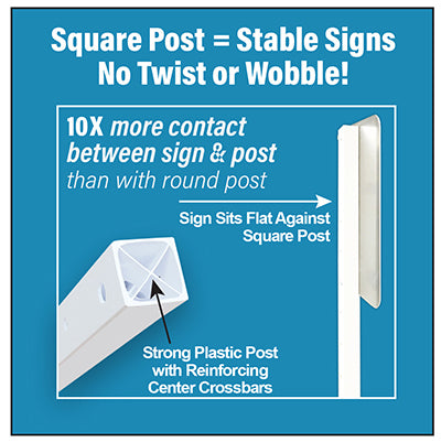 Roll-A-Post™ Portable Sign Post