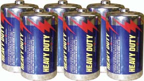 """D"" Heavy-Duty Batteries - 6 Pack"