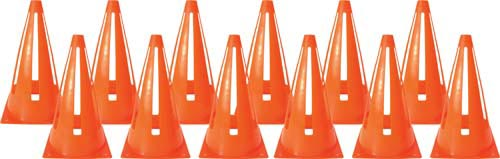"Collapsible Safety Cones - 9"" (Orange)(Dozen)"
