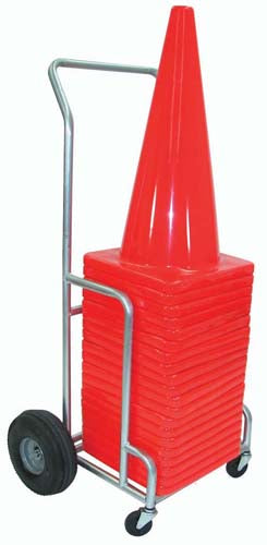 "Single EZ-Roll 28"" Cone Cart"