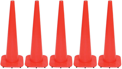 "36"" Orange Traffic Cones - Set of 5"