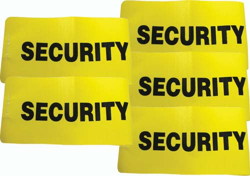I.D. Armbands (Yellow) - Security (Set of 5)