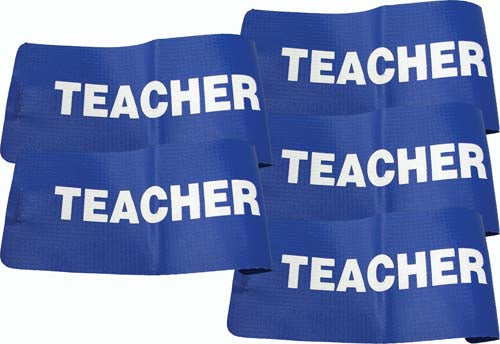 I.D. Armbands (Blue) - Teacher (Set of 5)