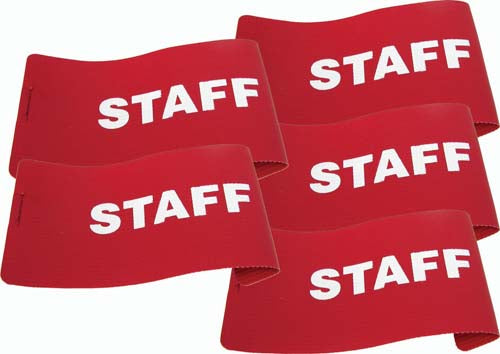 I.D. Armbands (Red) - Staff (Set of 5)