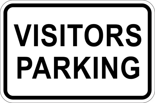 "18"" x 12"" Sign - Visitors Parking (Reflective)"