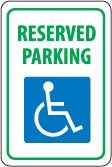 "12"" x 18"" Sign - Handicap Reserved Parking (Reflective)"