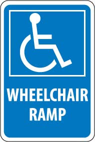 "12"" x 18"" Sign - Wheelchair Ramp"