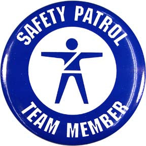 Safety Patrol Team Member Button (Blue)