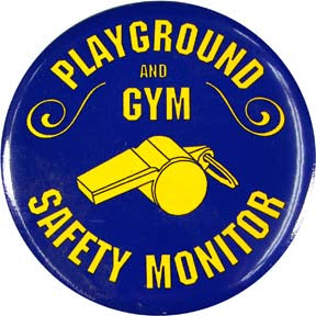 Playground/Gym Safety Monitor Button