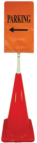 Cone Sign Kit - PARKING (Left Arrow) (orange)
