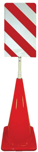 Cone Sign Kit - Stripes (Red/White)