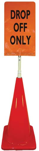 Cone Sign Kit - DROP OFF ONLY (orange)