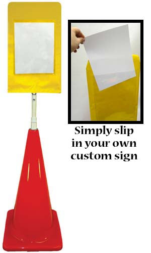 Cone Sign Kit - Customizable (yellow)