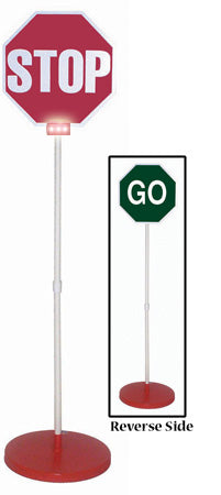 Stop/GO Sign & Base w/ Lights
