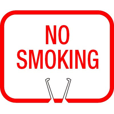 Snap-On Cone Sign - NO SMOKING