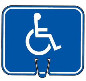 Snap-On Cone Sign - Handicapped Symbol