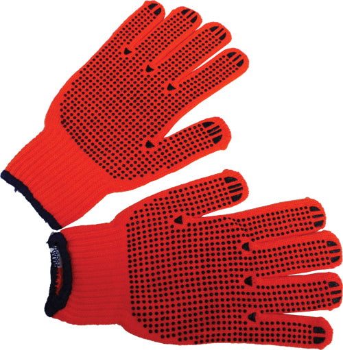 Orange Knit Gloves