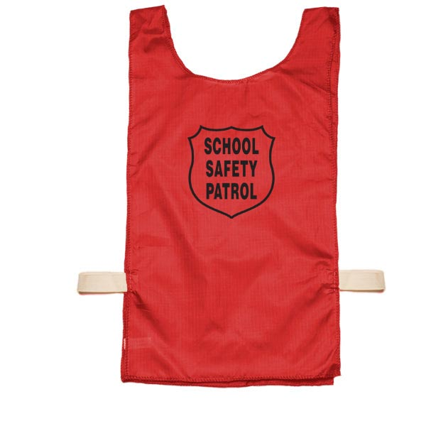 Youth Nylon Pinnie (Red) w/ Safety Patrol Emblem