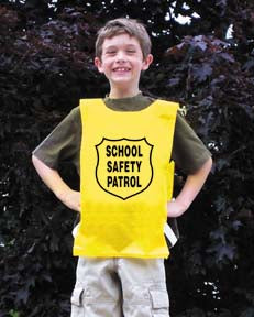 Youth Nylon Pinnie (Yellow) w/ Safety Patrol Emblem