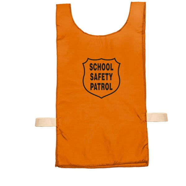 Youth Nylon Pinnie (Orange) w/ Safety Patrol Emblem