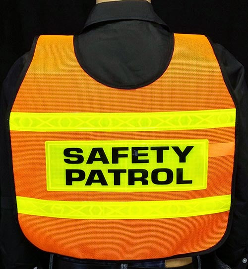 Ultra Reflective Orange Safety Patrol Cape