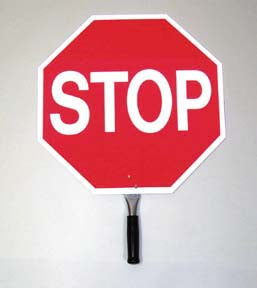 "18"" Reflective Aluminum Paddle Stop Sign"