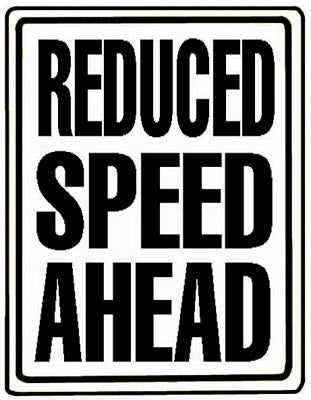 "18"" x 24"" Aluminum Sign - Reduce Speed Ahead"