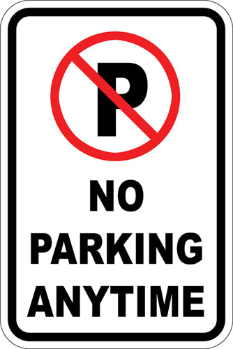 "12"" x 18"" Sign - No Parking (Symbol) Any Time"